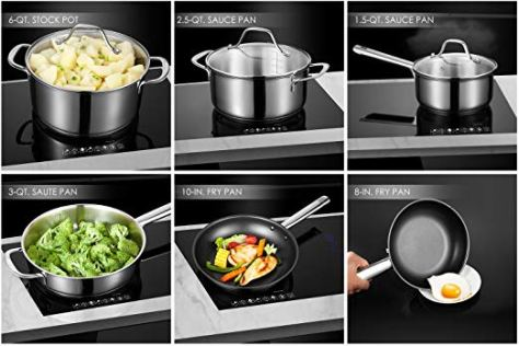 Stainless Steel 12-Piece Pots and Pans Set 1