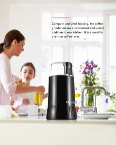Stainless Steel Blade Electric Coffee and Spice Grinder 2