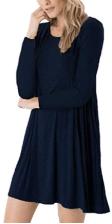 Women's Long Sleeve Swing Loose Flowy Short Casual Tunic Shirt Mini Dress 1
