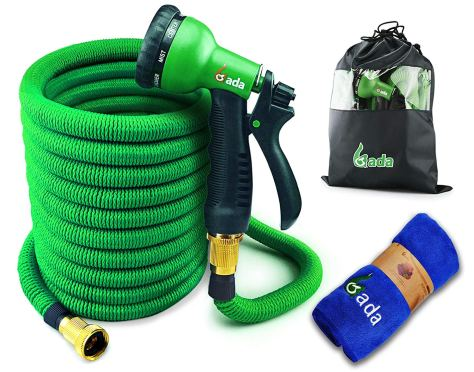 50 FT Heavy Duty Double Latex Core Expandable Water Hose