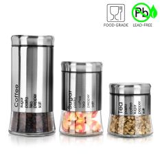 Food Storage Canister (Set of 3) with Airtight Lid