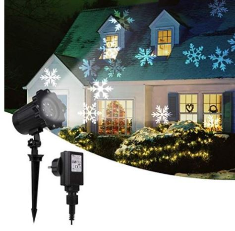 White Snowflake Projector