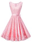 Women Premium A line Floral Lace Prom Party Bridesmaid Cocktail Dress