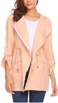 Women's Zip up Hoodies Pockets Tunic Sweatshirt Long Hoodie Outerwear Asymmetric Jacket