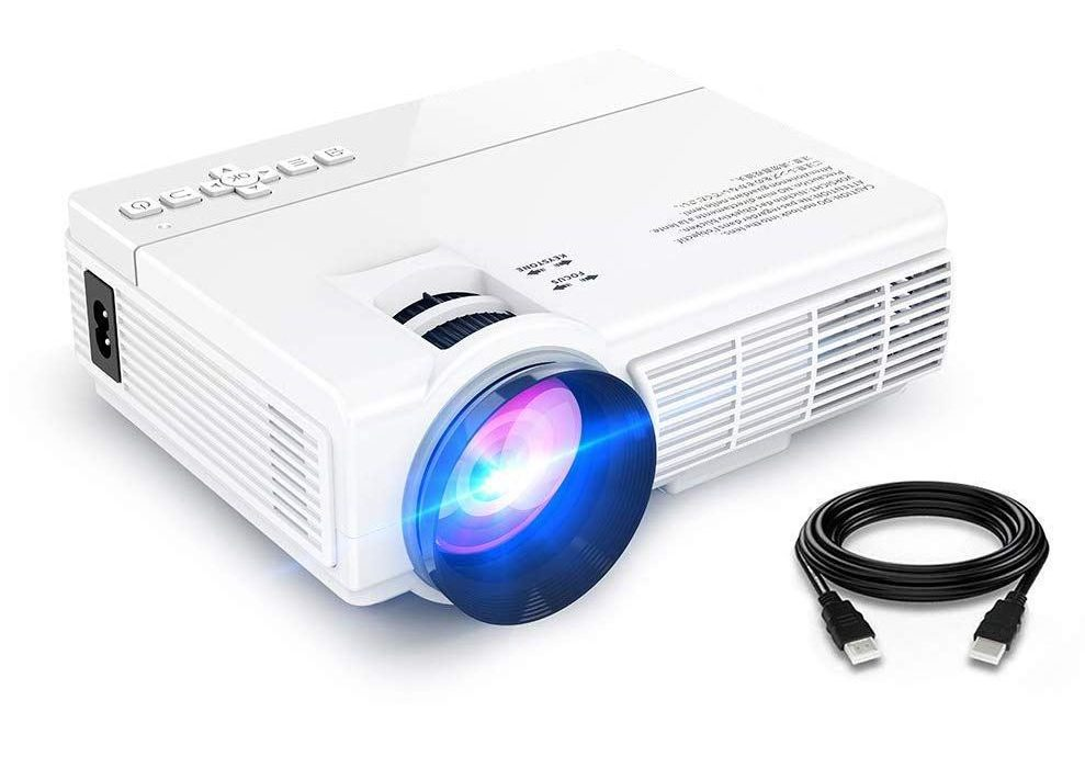 "Amazon: Projector(2018 Upgraded) XINDA 2200 Lumens Video Projector with 170"" Display 50,000 Hours LED Full HD Video Projector 1080P, Compatible with Amazon Fire TV Stick, HDMI, VGA, USB, AV, SD for Home Theater for $35.99 (reg: 79.99)"