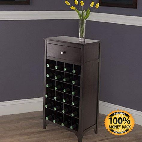 24 Bottle Wine Cabinet with Drawer 1
