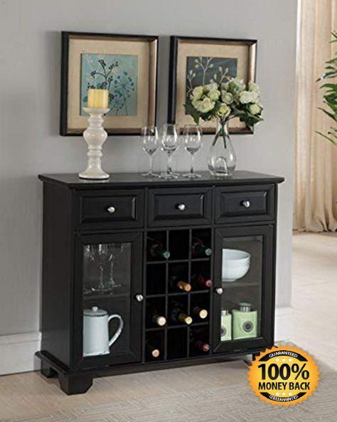 Buffet Server Sideboard Cabinet with Wine Storage Black.jpg
