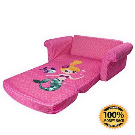 Children's 2 in 1 Mermaid Flip Open Foam Sofa 1