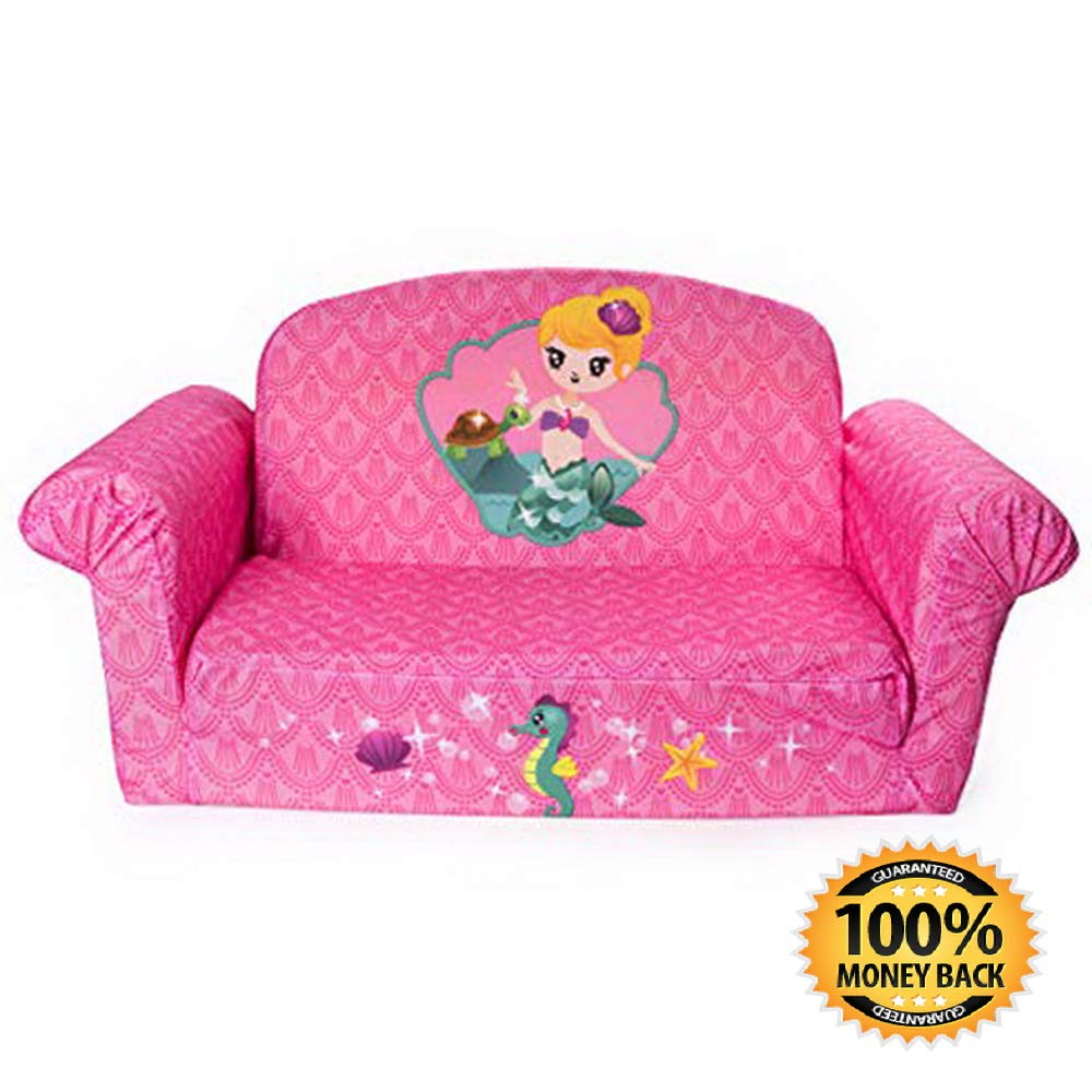 Amazon : Children's 2 in 1 Mermaid Flip Open Foam Sofa Just $14.40 W/80% Off Coupon (Reg : $72) (As of 12/7/2018 10.51 PM CST)