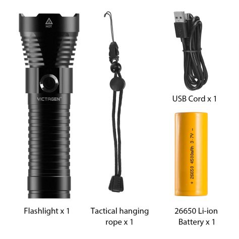 LED USB Rechargeable Flashlight 2