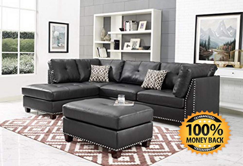 Amazon : Leather Sectional Sofa, Dark Espresso Just $367.60 W/80% Off Coupon (Reg : $1838) (As of 12/7/2018 7.42 PM CST)