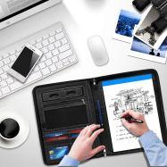 Premium Resume Business Leather Portfolio Folder with Phone Stand 3