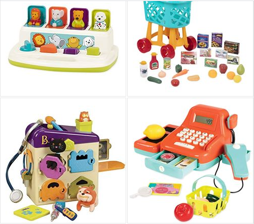 Amazon : Save up to 45% on favorites toys from Battat, Play Circle & Bristle Blocks Just Starting As Low As $3.98 (Reg :  $129.99) (As of 12/14/2018 8.31 AM CST)