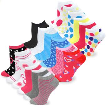 Women's Fashion No Show Fun Socks 18 Pairs Packs.png