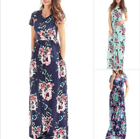 Womens Floral Summer Casual Tunic Sleeveless Long Maxi Beach Dress with Pockets ab.png
