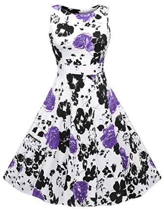 Women's Vintage 1950's Floral Spring Garden Rockabilly Swing Prom Party Cocktail Dress.png