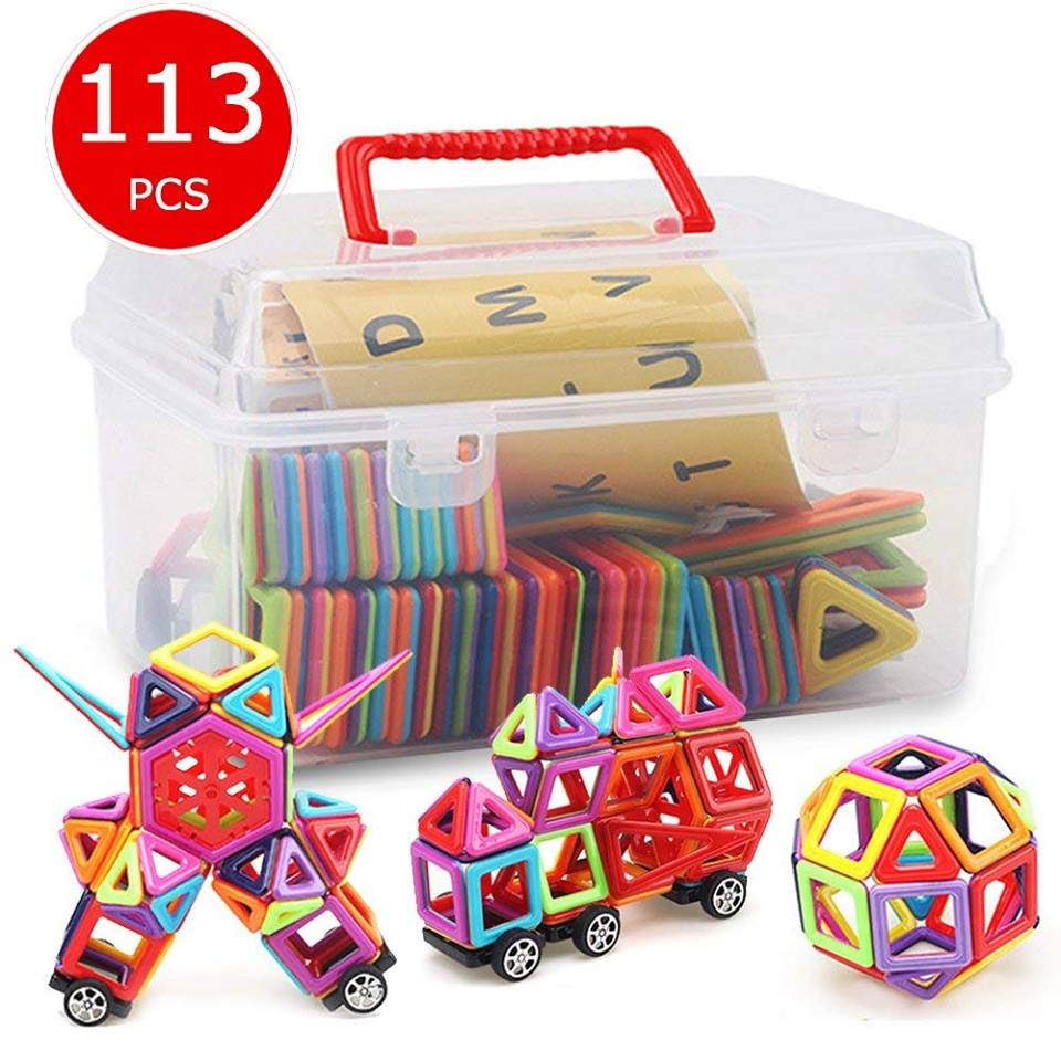 Amazon: 113PCS Magnetic Tiles Kids, Magnetic Building Blocks Set Boys Girls for $22.49 w/code