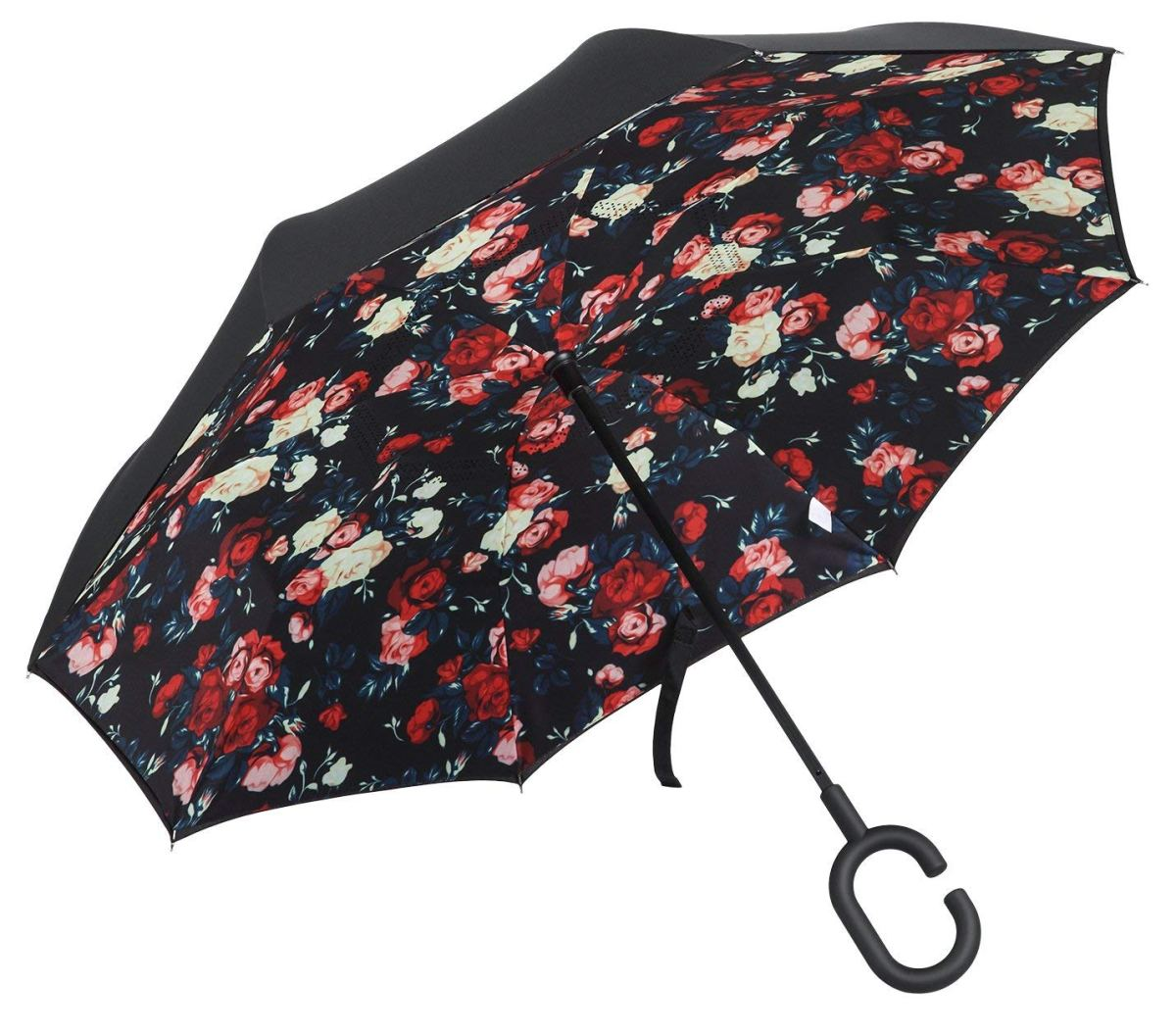 Amazon: Double Layer Inverted Umbrella, Windproof Reverse Umbrella for Outdoor UV Protection or for Car Use With Folding C-Shaped Hands-Free for $9.99 w.code (reg:$28.99)
