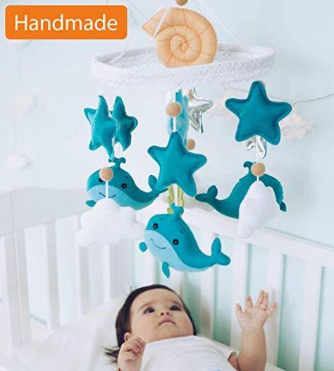 Baby Mobile Felt Nursery Crib Mobile Handmade