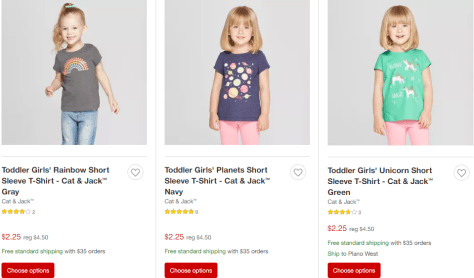 3c89b7fe1b Deals Finders | Target : 50% Off Cat & Jack T-Shirts, Jeans & More ...