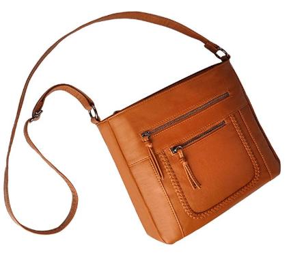 Crossbody Bag with Multi Zipper Pockets