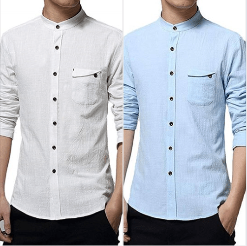 Amazon : Men's Long Sleeve Cotton Blends Linen Shirts with Bottons Just $5.99 W/Code (Reg : $19.98) (As of 1/20/2019 11.16 AM CST)
