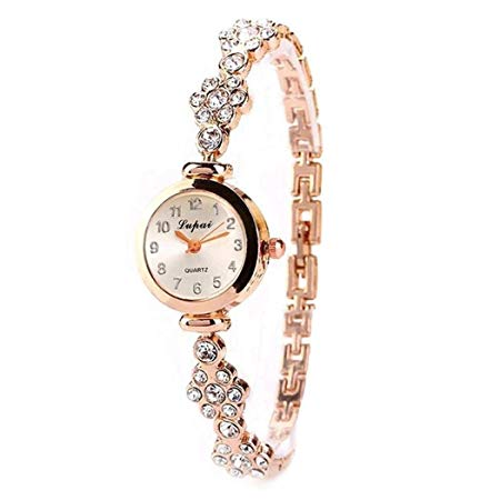 Amazon: Women Casual Rhinestone Round Quartz Analog Watch Wristwatch Wrist Watches for $5.79 w/code