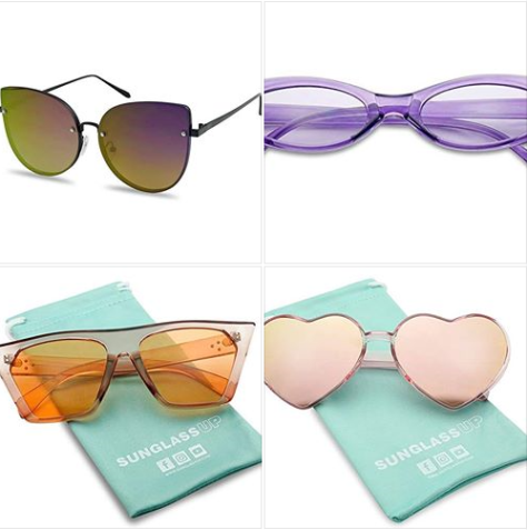 Small Slim Translucent Vintage Oval Cat Eye Sun Glasses