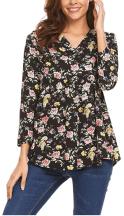 Women's Floral Printed Chiffon Shirts 1