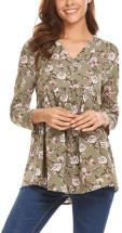 Women's Floral Printed Chiffon Shirts 2