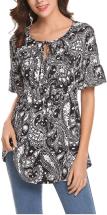 Women's Floral Printed Chiffon Shirts