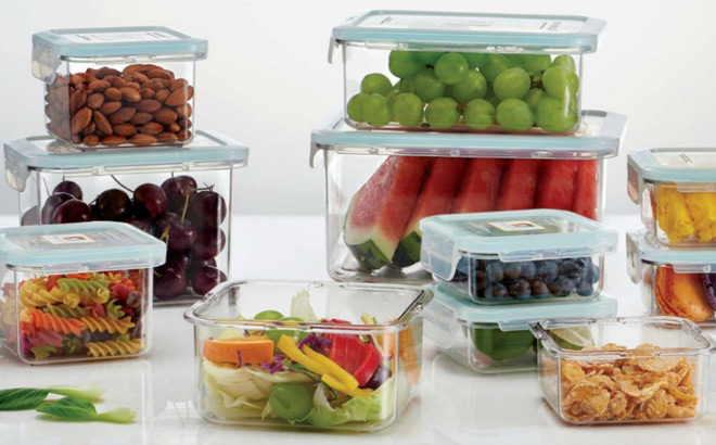Wellslock 22-Piece Food Storage Container Set Only $14.98 + FREE Shipping (Reg $30)