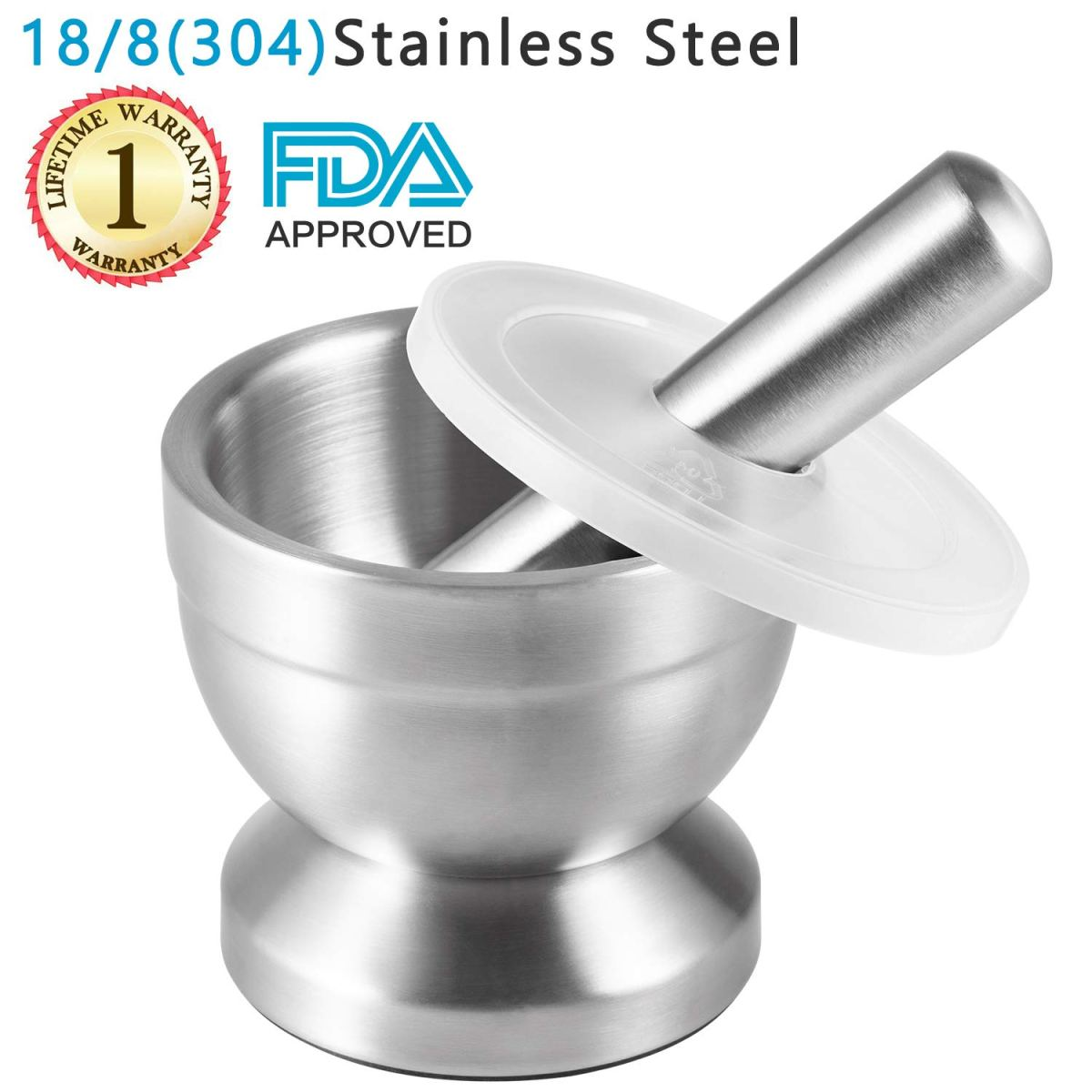 Amazon : 18/8 Stainless Steel Mortar and Pestle Just $11.99 W/Code (Reg : $19.99) (As of 2/15/2019 1.31 PM CST)