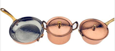 5-pc. Mini Copper Cookware Set