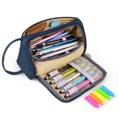 Amazon : Big Capacity Pen Case with Double Zippers Just $6.99 (As of 2/16/2019 9.50 PM CST)