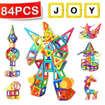 Mini Magnetic Building Blocks for Ages 3 and Up 84pcs Magnetic Tiles Set for $16.79 w/code