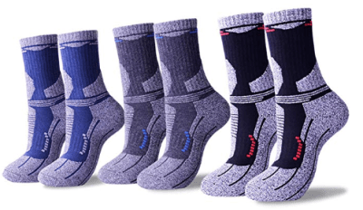 Amazon : Men's Breathable Multi-performance Outdoor Sports Socks Year Round(3 P airs) Just $7.99 W/Code (Reg : $15.99) (As of 2/16/2019 9.36 PM CST)