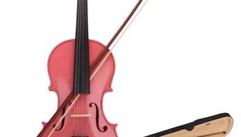 Deals Finders   Amazon : 4/4 Acoustic Violin Red Beginner