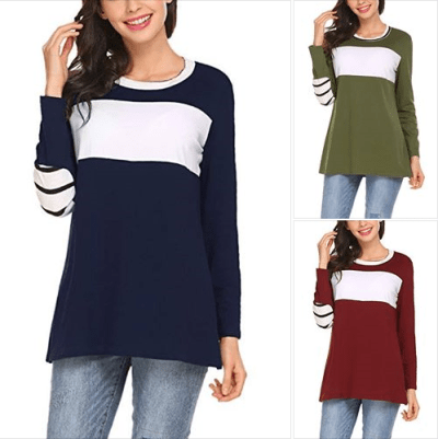 Amazon : Women's Casual Color Block Tops Just $7.50 W/Code (Reg : $24.99) (As of 2/21/2019 8.57 PM CST)