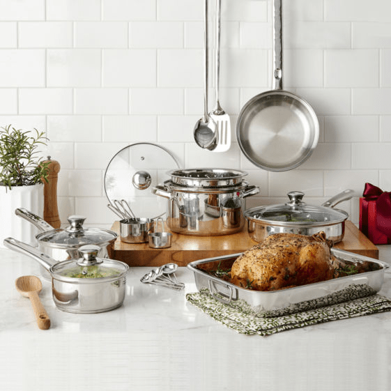 Cooks 21-Piece Stainless Steel Cookware Set Only $23.99 After Rebate at JCPenney (Regularly $100)