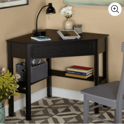 Walmart : Corner Writing Desk with Pullout Drawer and Shelf Just $69.77 (Reg : $77.52)