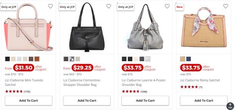 Deals Finders Jcpenney Sale On Liz Claiborne Handbags Starting
