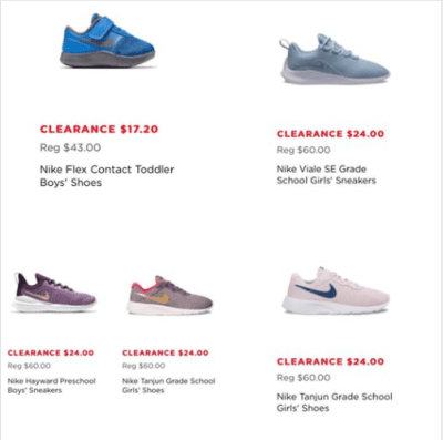 Kohl's : Kid's Nike Clearance!