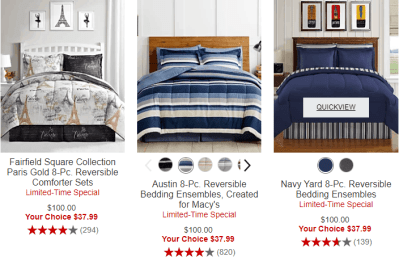 Macy's : 8 piece Fairfield Square Collection Comforter Sets Just $37.99 (Reg $100)