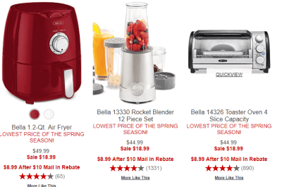 Macy's : 80%-82% OFF Bella Kitchen Appliances Just $8.99 After $10 Mail In Rebate!
