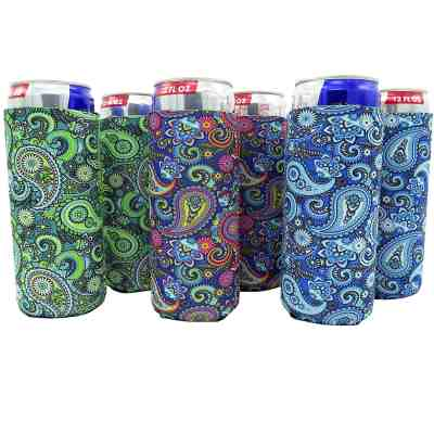 Amazon : Slim Can Sleeves - Set of 6 Can Neoprene Beverage Coolers (Paisley) Just $5.80 (Reg : $11.80) (As of 3/24/2019 9.14 AM CDT)