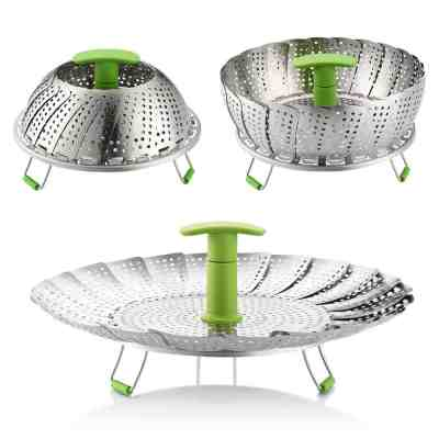 Amazon : Stainless Steel Vegetable Steamer Basket Just $5.85 W/Code + 6% Off Coupon (Reg : $14.99) (As of 3/24/2019 10.14 AM CDT)