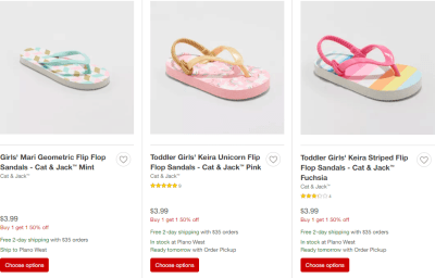 Target : Buy 1 Get 1 50% Off Kids Shoes (Starting at Only $2.99 Each!)