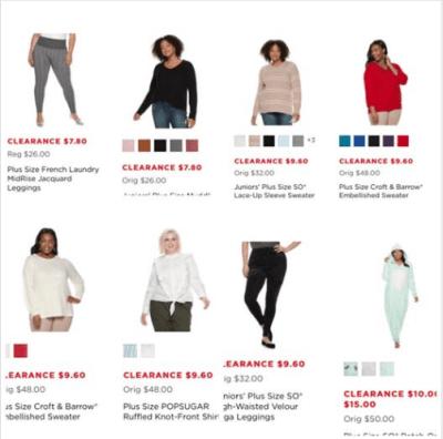 Kohl's : Women Plus Size Clearance!!
