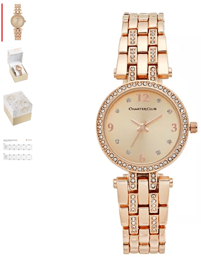 Macy's : Women's Pavé Bracelet Watch 28mm Just $19.99 (Reg : $37.50)